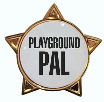 PLAYGROUND PAL titled star badge